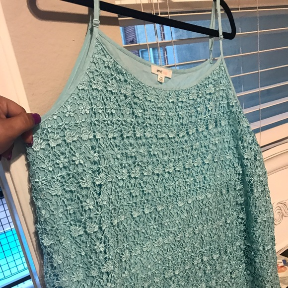 Tops - Blue tank top- Lacey